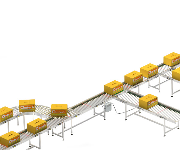Conveyor with merge sorting system with transfer pop up Supplier in Ahmedabad