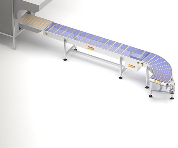 Oven discharge cooling conveyor system for biscuit industry, Biscuit and Cookies Production Line